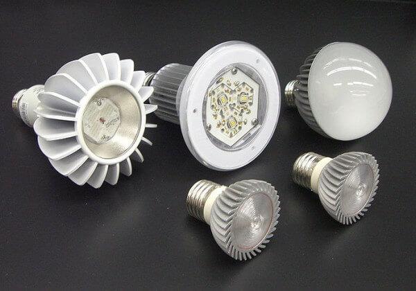 Distintos tipos de lámparas led