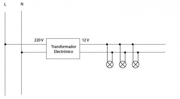 Conexión de dicroicas de 12v