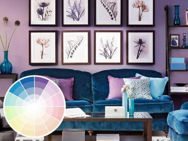 Salón azules purpura