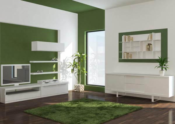 Living moderno verde