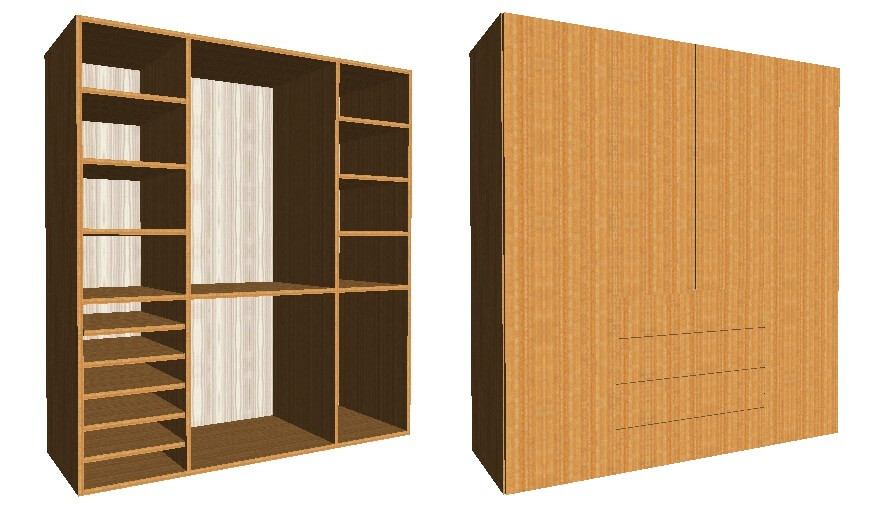 Dise o de mueble en polyboard saber y hacer for Disenar muebles 3d