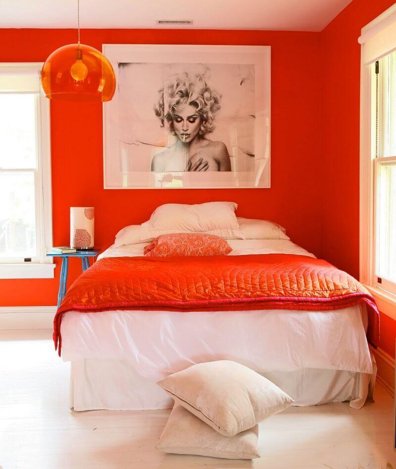 Los colores de pintura del 2012 saber y hacer - Orange bedroom interior design ...