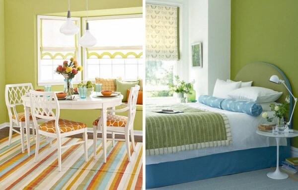 Tonos verdes para pintar las paredes saber y hacer - Combinacion de colores pintura ...