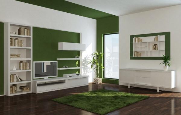 Tonos verdes para pintar las paredes saber y hacer for Pintura pared verde