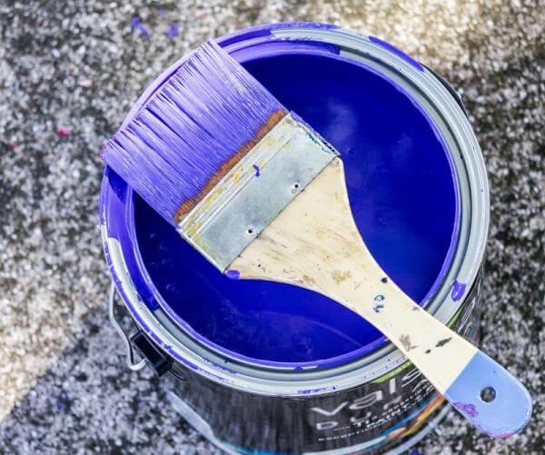 pintura azul