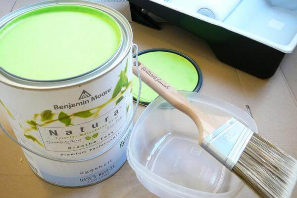 Pintura verde para paredes