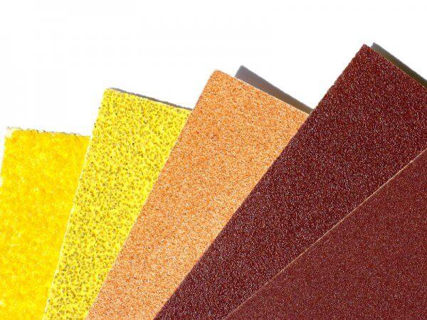 papeles de lija distintos grano